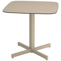 Aluminium and HPL EMU Shine 2/4 Seats Square Table HPL Top