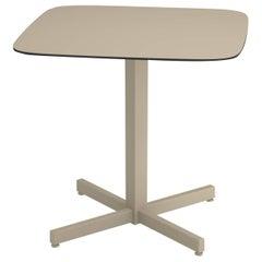 Aluminium and HPL EMU Shine 2 Seats Square Table HPL Top
