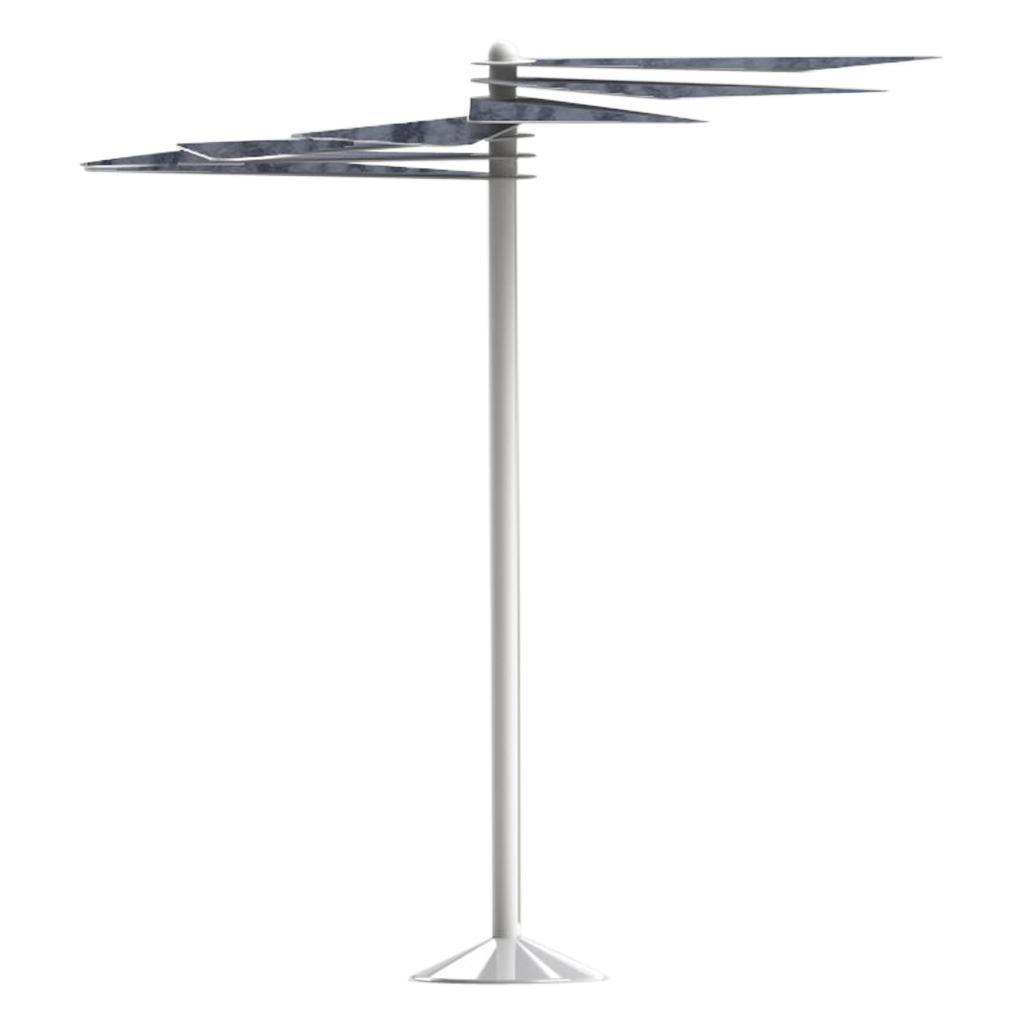 Aluminium Modern Contemporary Outdoor Umbrella with Solar PV Panels and Light