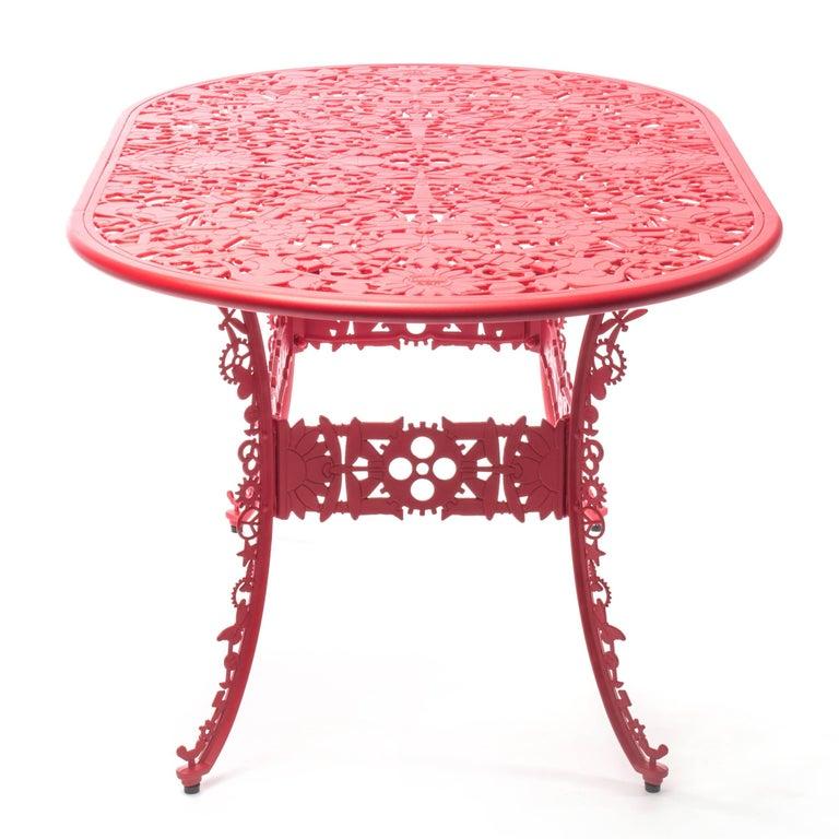 Modern Aluminium Oval Table