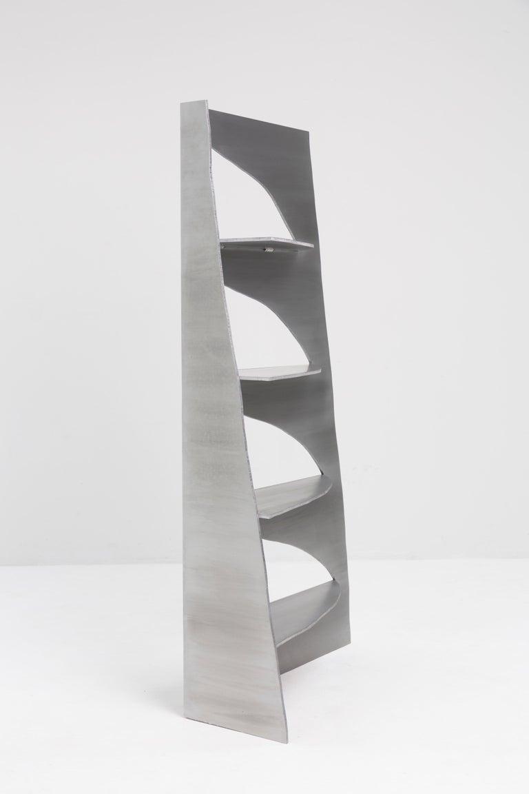 Modern Aluminum Rational Jigsaw Shelf by Studio Julien Manaira For Sale
