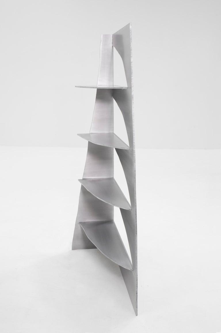 Dutch Aluminum Rational Jigsaw Shelf by Studio Julien Manaira For Sale