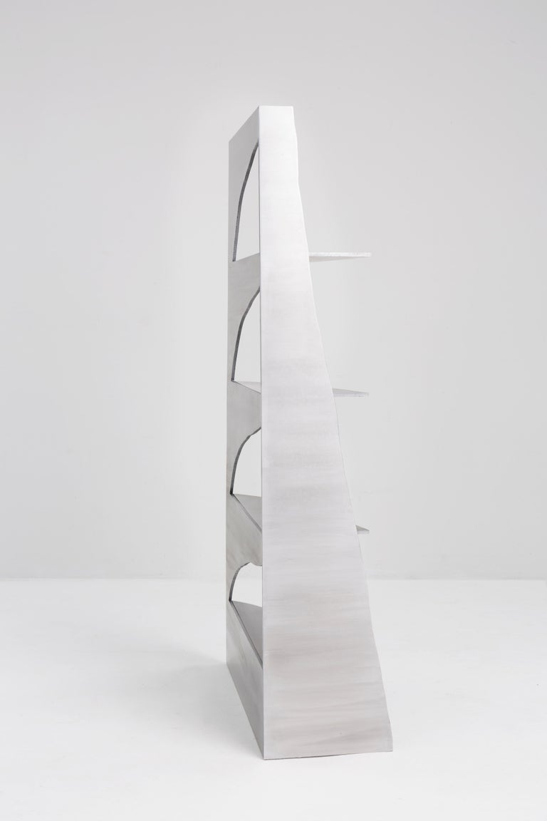 Aluminum Rational Jigsaw Shelf by Studio Julien Manaira In New Condition For Sale In Geneve, CH