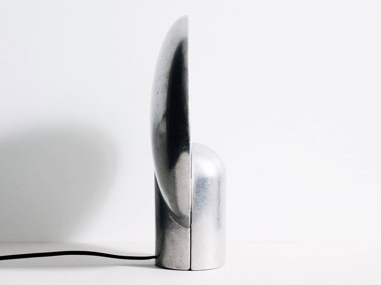 Cast Aluminium Sconce Table Lamp by Henry Wilson For Sale