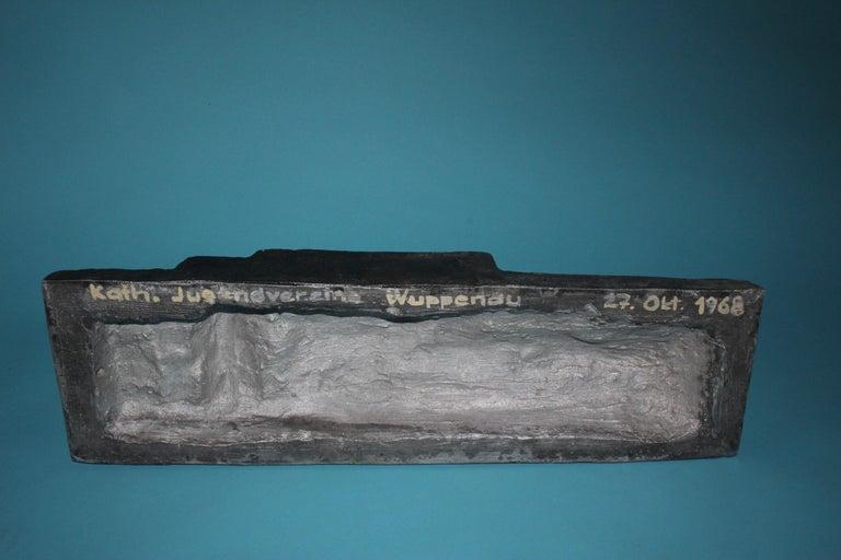Aluminum Aluminium Signed Sculpture, Dated 1968 For Sale
