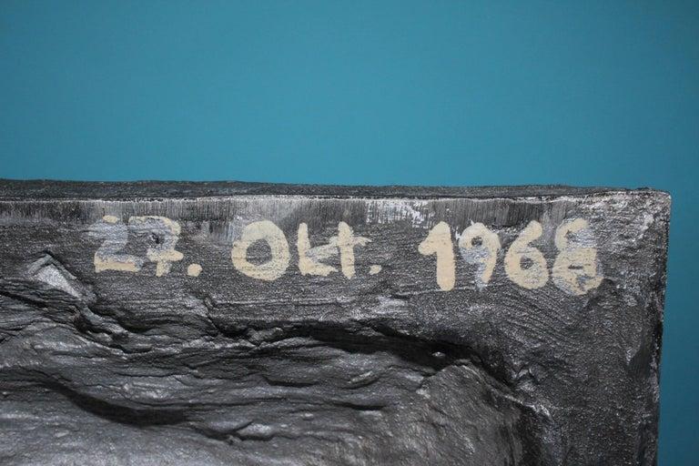 Aluminium Signed Sculpture, Dated 1968 For Sale 1