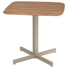 Aluminium and Teak EMU Shine 2/4 Seats Square Table Teak Top