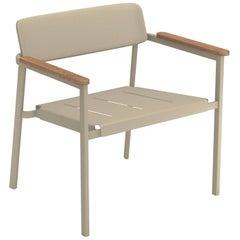 Aluminium and Teak EMU Shine Lounge Chair, Set of 2 Items