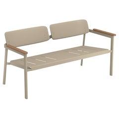 Aluminium and Teak EMU Shine Two Seats Sofa