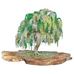 "Feng Shui Bonsai ""Little Green"", Handmade in Italy, Sculpture, Contemporary"
