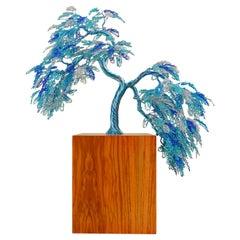 "Feng Shui Bonsai ""Obeisance"", Handmade in Italy, Sculpture, Contemporary Design"