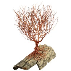 "Aluminum Bonsai ""Prickly Copper"", Handmade in Italy, Sculpture, Contemporary"