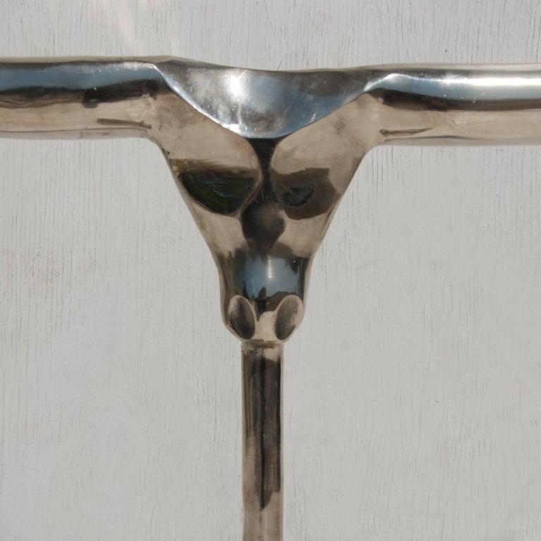 Contemporary Aluminum Bullhorn Sculpture For Sale