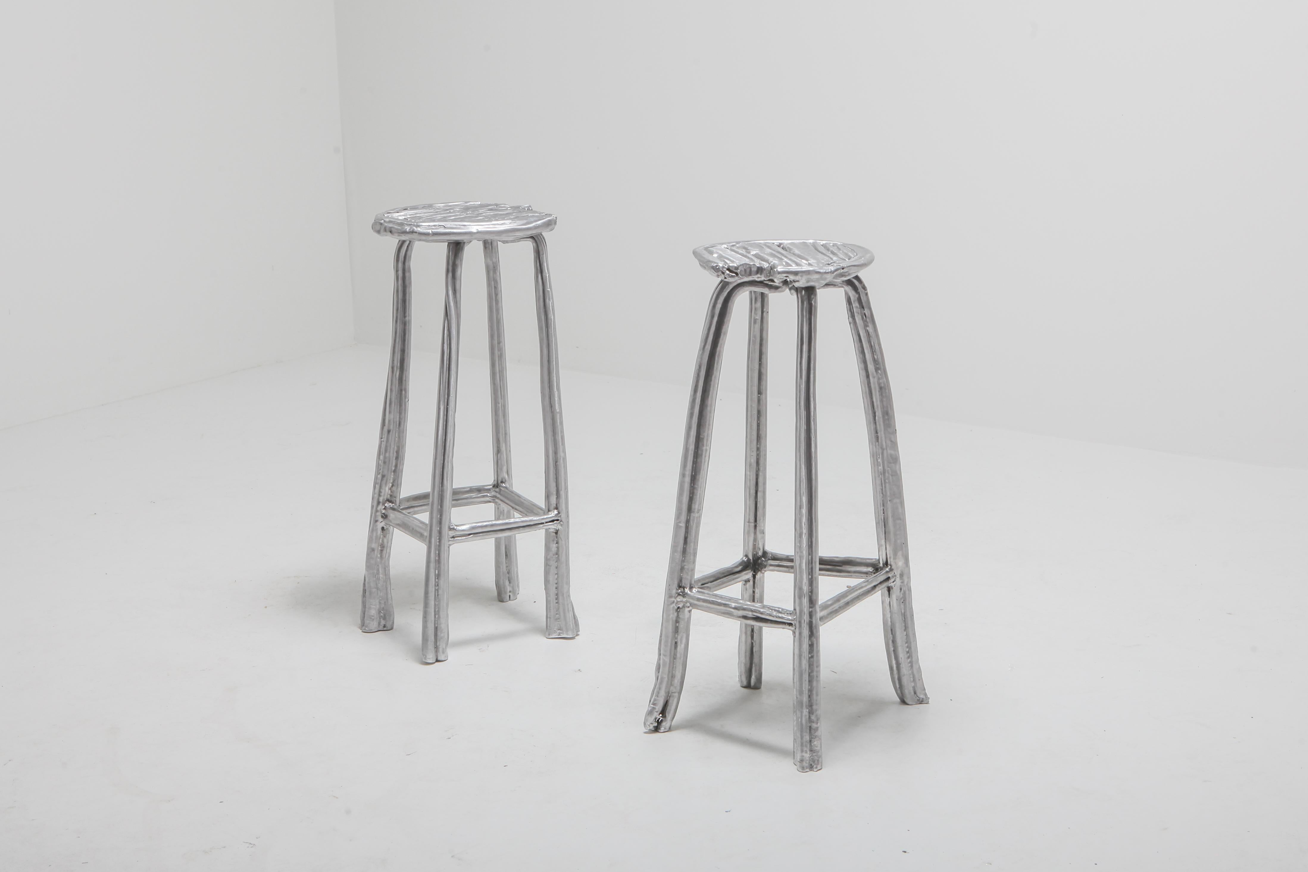 Functional Art Or Collectible Design Piece Cast Aluminum Bar Stool T 009 By  Nicolas Erauw