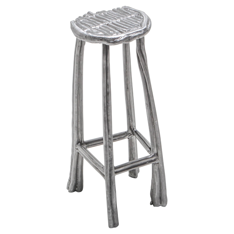 Aluminum Cast Bar Stool T-009 by Nicolas Erauw