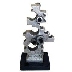 Aluminium Cast Machine Age Sculpture