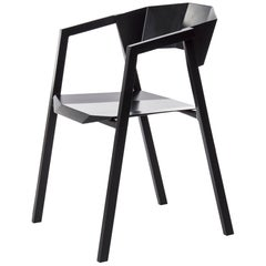 """Aluminum Chair, """"K,"""" Black, from Concrete Collection by Bentu"""