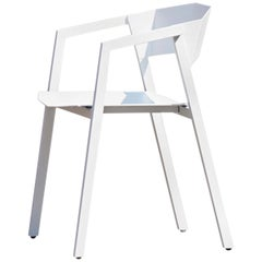 "Aluminum Chair, ""K,"" White, from Concrete Collection by Bentu"
