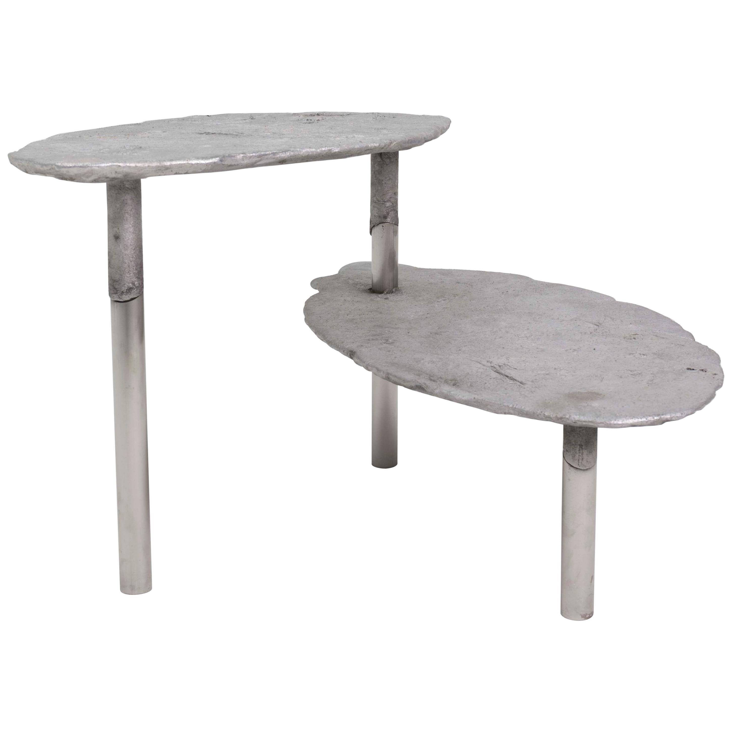 Aluminum Concretion Coffee Table by Studio Julien Manaira