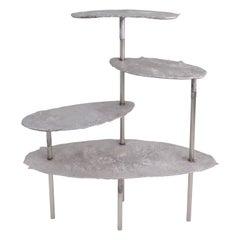 Aluminum Concretion Shelf by Studio Julien Manaira