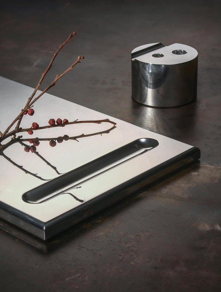 Collection I: Desk tray  This high polished aluminum desk tray, adds style and sophistication to your work surface.  Made to order.