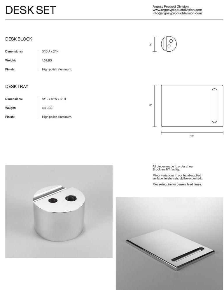 American Aluminum Desk Tray Accessory For Sale
