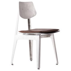 Aluminum Dining Chair with Leather Seat Cushion / Dining Chair BT