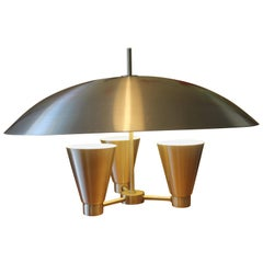 Aluminum Dome Canister Midcentury Chandelier