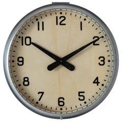 Aluminum Factory Clock, circa 1940