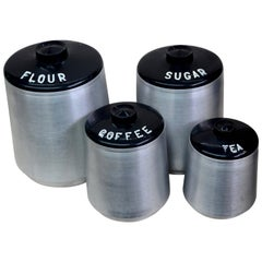 Aluminum Four-Piece Canister Set by Kromex