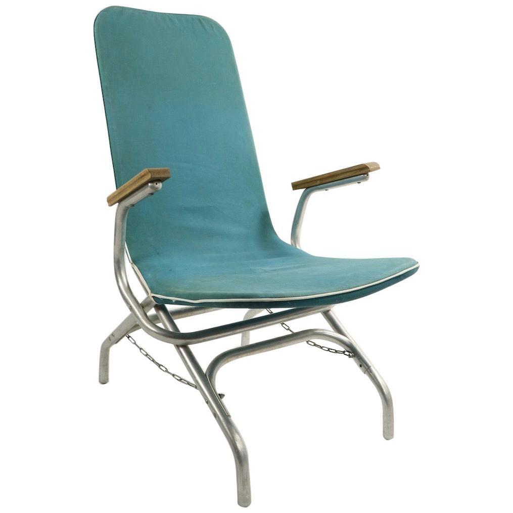 Aluminum Frame Chaise Lounge Patio Garden Chair
