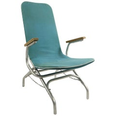 Aluminum Frame Chaise Lounge Patio Garden Chair