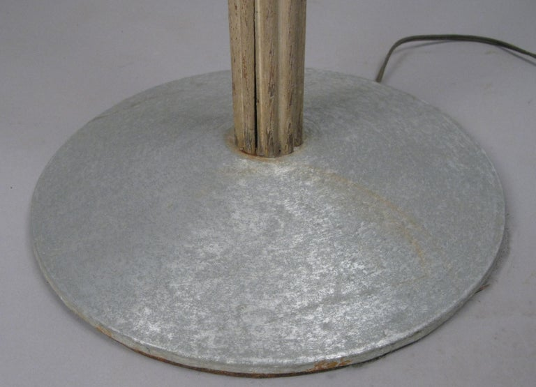 Aluminum & Glass & Cerrused Oak Torchiere Floor Lamp by Russell Wright In Good Condition For Sale In Hudson, NY