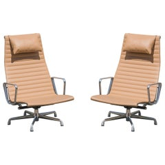 Aluminum Group Lounge Chairs by Charles & Ray Eames for Herman Miller, Pair