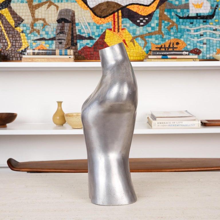 American Aluminum Mannequin Torso Sculpture For Sale