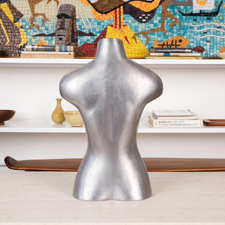 Aluminum Mannequin Torso Sculpture In Excellent Condition For Sale In Los Angeles, CA