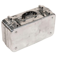 Aluminum Military Case with Black Leather Handle