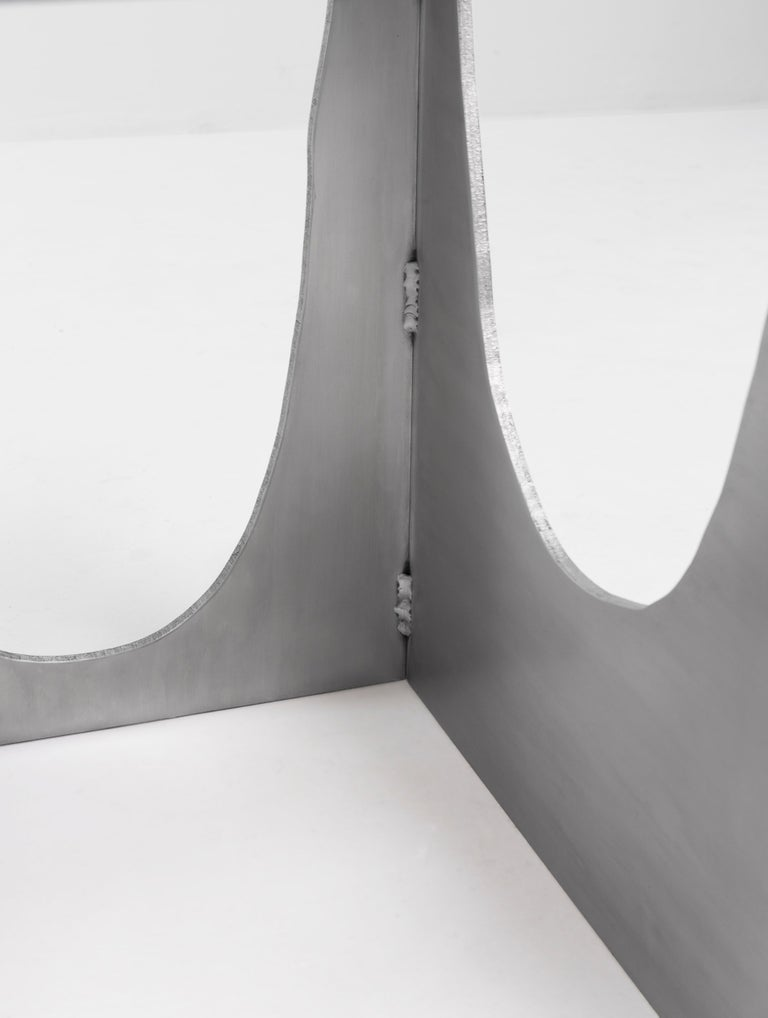 Aluminum Rational Jigsaw Chair by Studio Julien Manaira For Sale 4