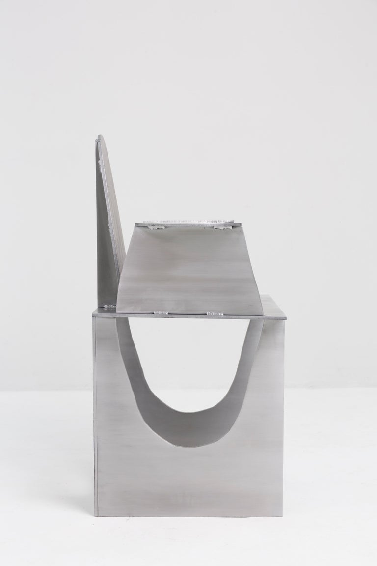 Aluminum Rational Jigsaw Chair by Studio Julien Manaira For Sale 5