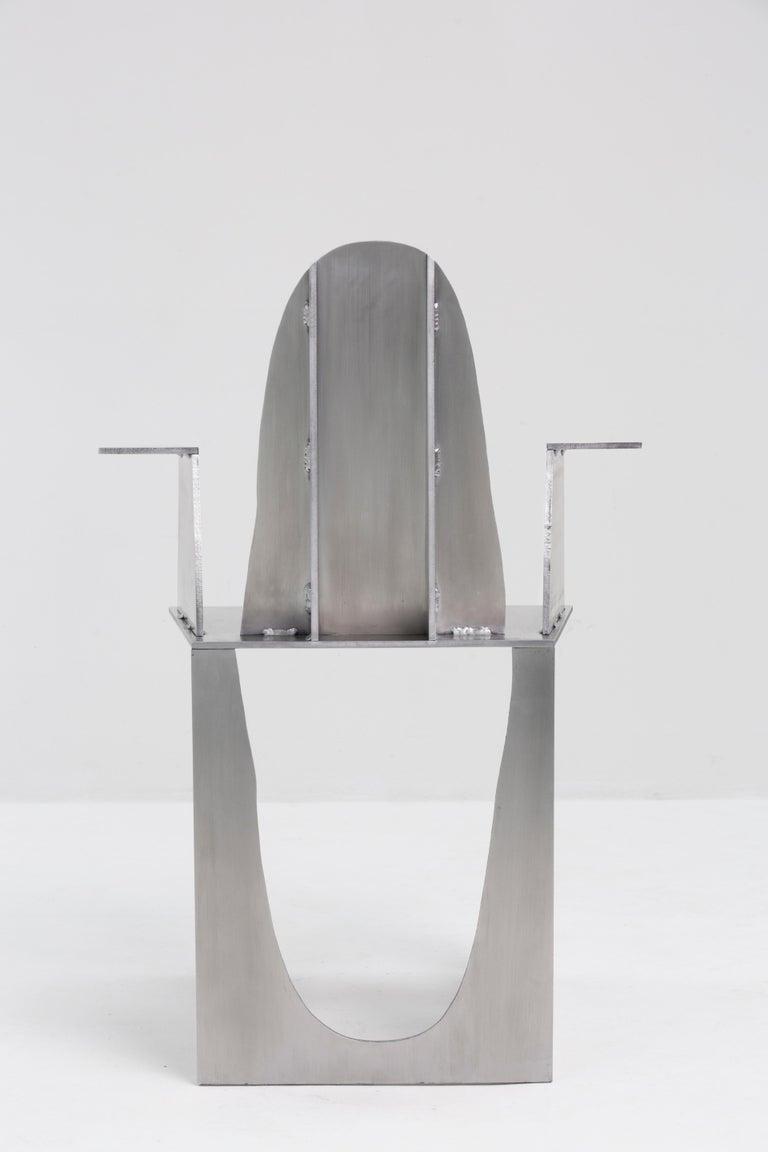 Modern Aluminum Rational Jigsaw Chair by Studio Julien Manaira For Sale