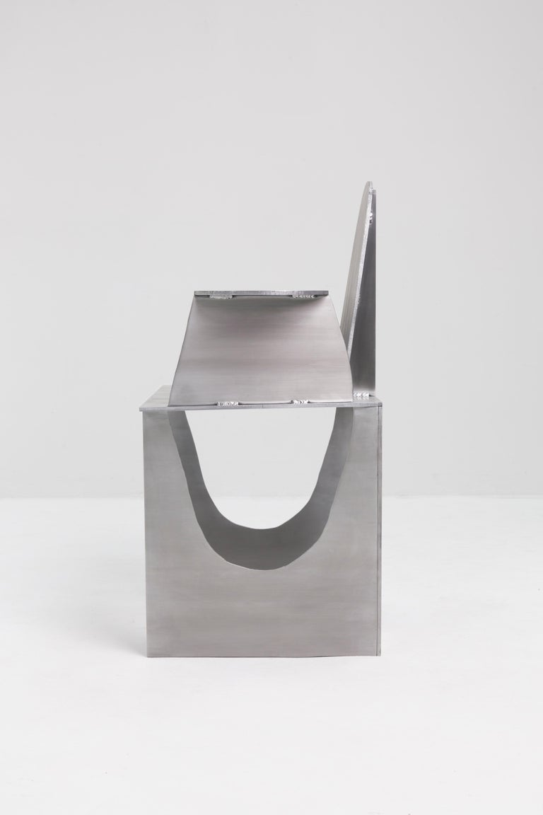 Contemporary Aluminum Rational Jigsaw Chair by Studio Julien Manaira For Sale