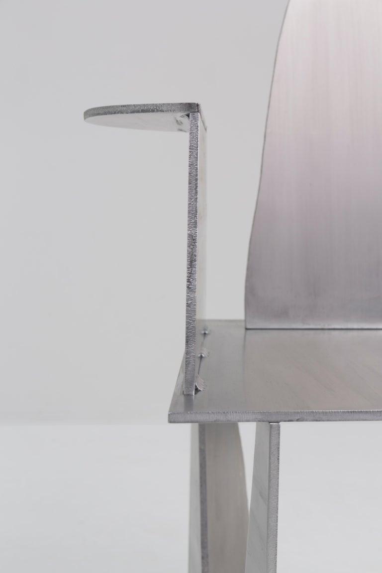Aluminum Rational Jigsaw Chair by Studio Julien Manaira For Sale 1