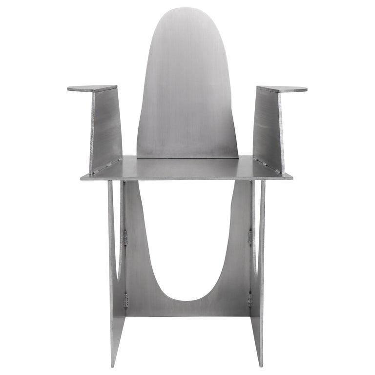 Aluminum Rational Jigsaw Chair by Studio Julien Manaira For Sale