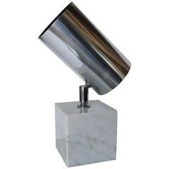 """Aluminum Spot"" Marble Lamp by Robert Sonneman"