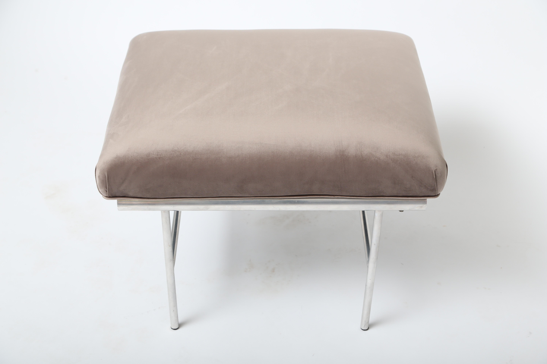 Aluminum Upholstered Bench For Sale At 1stdibs