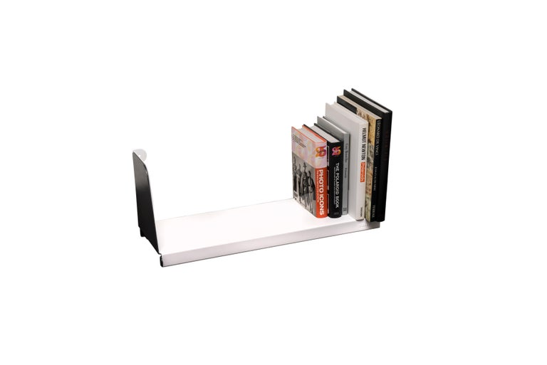 French Aluminum Extra Large Sliding Double Shelf in by Sebastian Bergne and Tolix For Sale