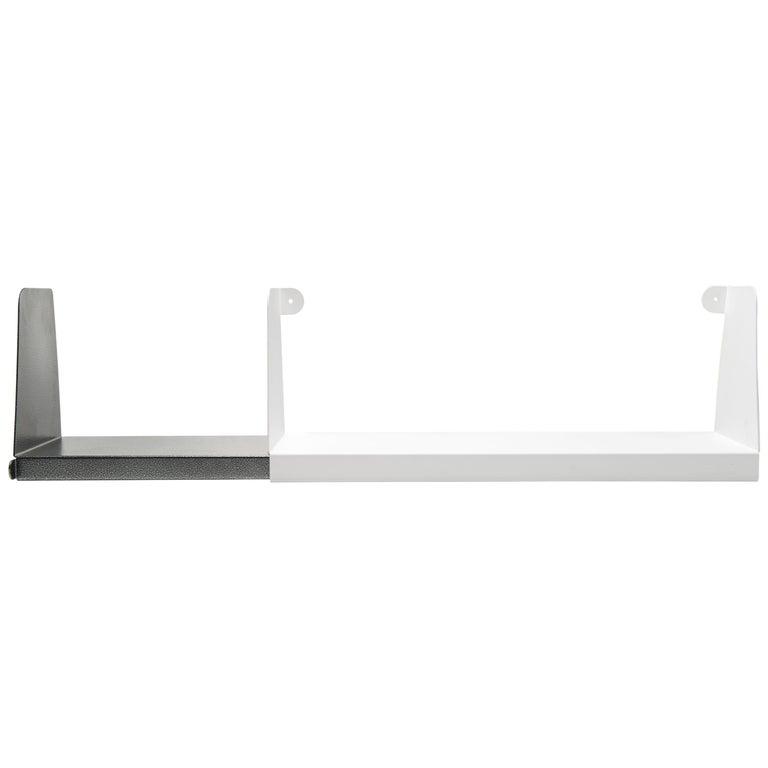 For Sale: White (Blanc) Aluminum Extra Large Sliding Double Shelf in by Sebastian Bergne and Tolix