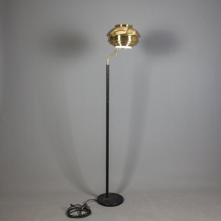 Scandinavian Modern Alva Aalto Floor Lamp Model A808 for Valaitustyo Ky, 1950s For Sale
