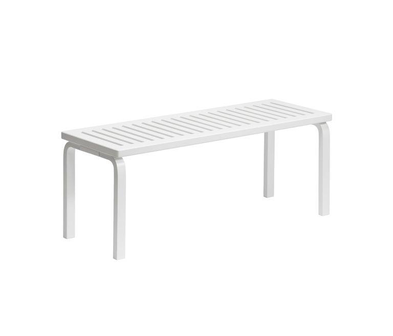 Scandinavian Modern Alvar Aalto 153A Bench for Artek in Black Lacquer For Sale