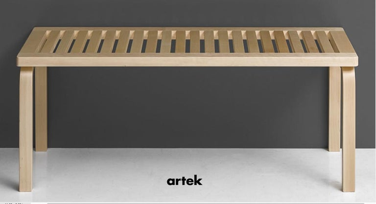 Finnish Alvar Aalto 153A Bench for Artek in Black Lacquer For Sale